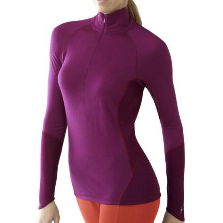 SmartWool NTS Zip Neck Base Layer Top - Merino Wool, Lightweight, Long Sleeve (For Women)