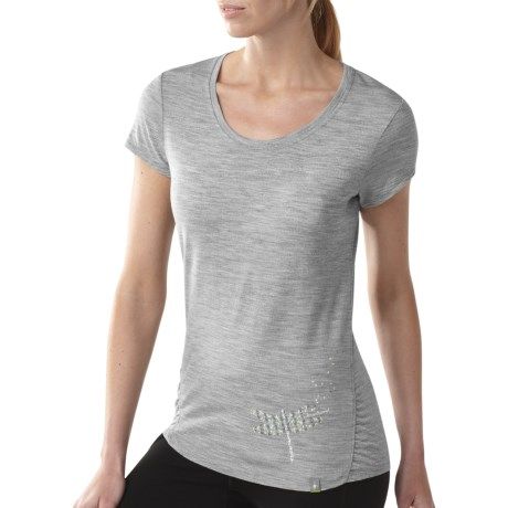 SmartWool Modern Crew Graphic T-Shirt - Merino Wool, Short Sleeve (For Women)
