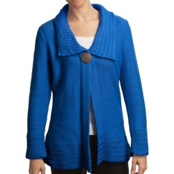 Pure Handknit Bronx One-Button Tunic Cardigan Sweater (For Women)