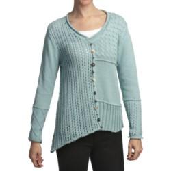 Pure Handknit Ardon Patchwork Pullover (For Women)