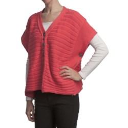 Pure Handknit Bella Cotton Knit Poncho (For Women)