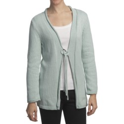 Pure Handknit Asa Tie-Front Cardigan Sweater (For Women)