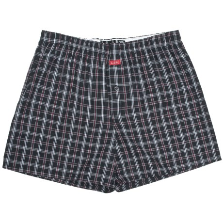 Luk Cotton Plaid Boxers (For Men)