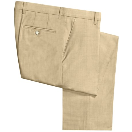Berle Worsted Wool Dress Pants - Flat Front (For Men)