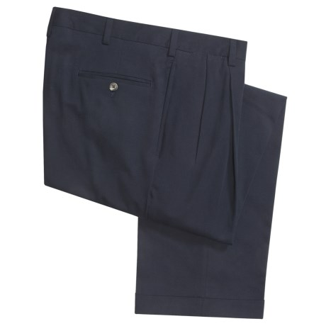 Berle Charleston Khakis by  Cotton Blend Pants - Pleats (For Men)