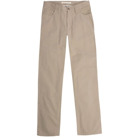 Vintage 1946 Cotton Twill Pants - 5-Pocket, Trim Fit (For Men)