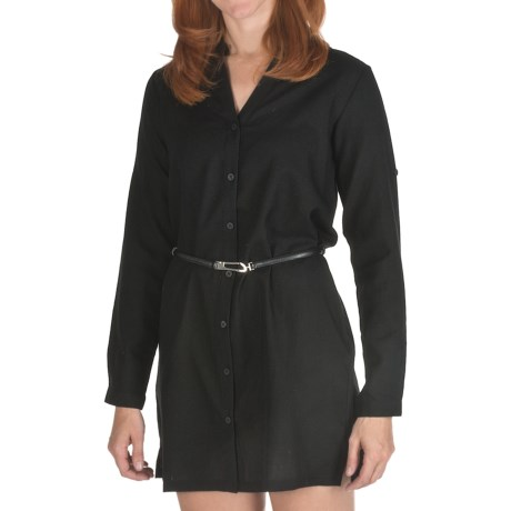 Emu Cabarita Shirt Dress - Merino Wool, Long Sleeve (For Women)