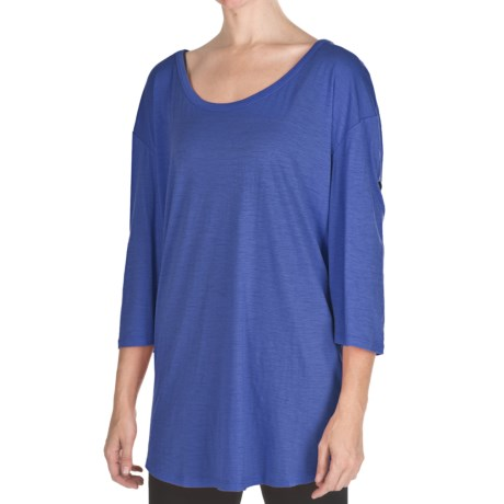 Emu Ningaloo Over-Sized Shirt - Merino Wool, Long Button-Tab Sleeve (For Women)