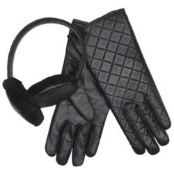 Emu Beechworth Earmuffs and Gloves Set - Sheepskin, Merino Wool (For Women)