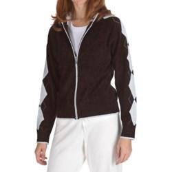 Soybu Argyle Hoodie Sweatshirt - Full Zip (For Women)
