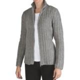 Colorado Clothing Jersey Fleece Ribbed Cardigan Sweater - Full Zip (For Women)