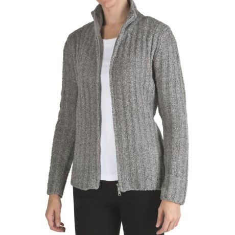 Colorado Clothing Jersey Fleece Ribbed Cardigan Sweater - Full Zip (For Women)