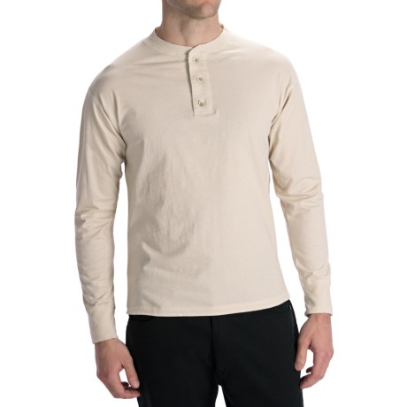 Options Top-Dyed Jersey Henley Shirt - Cotton, Long Sleeve (For Men)