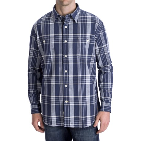 Options Canvas Plaid Shirt - Long Sleeve (For Men)