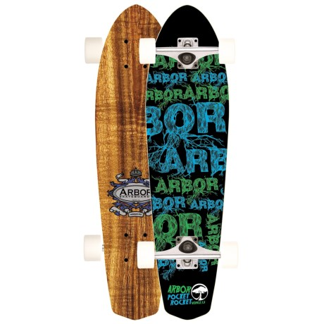 "Arbor Koa Pocket Rocket Complete Cruiser Skateboard - 7.25x26"""