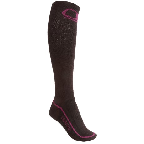 Icebreaker Ski Midweight Socks - Merino Wool, Over-the-Calf (For Women)