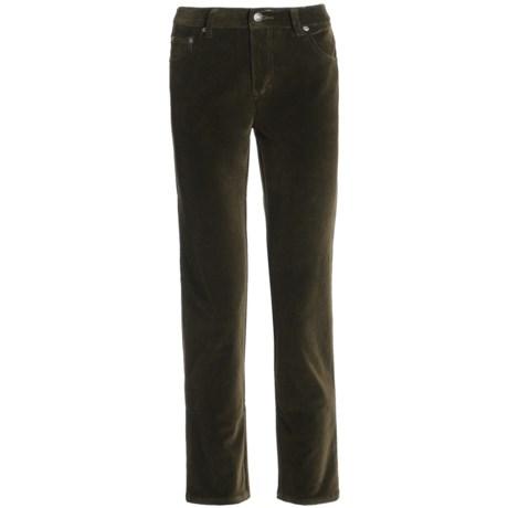 Stretch Velvet Jeans - 5-Pocket (For Women)