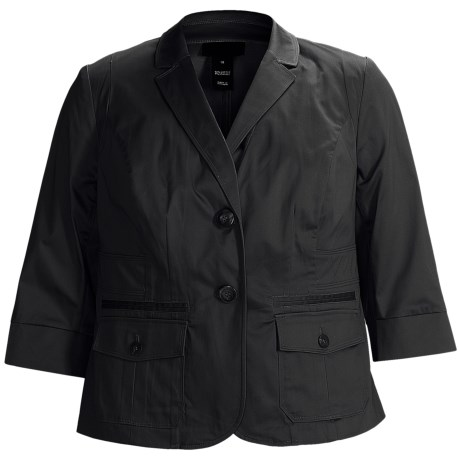 Specially made Stretch Sateen Jacket - 3/4 Sleeve (For Plus Size Women)