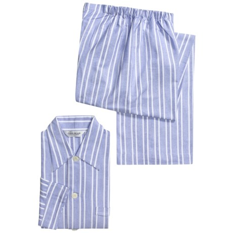 Derek Rose Arran Pajamas - Cotton Flannel, Long Sleeve (For Men)