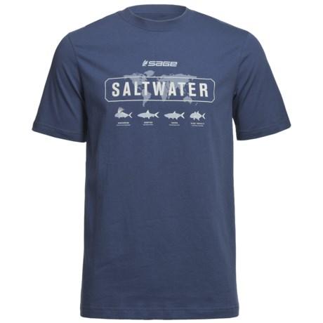 Sage Saltwater T-Shirt - Short Sleeve (For Men)