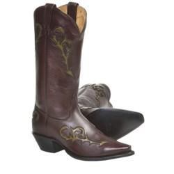 Tony Lama Italian Inlay Cowboy Boots - Leather (For Women)