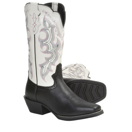 Justin Boots Stampede Punchy Cowboy Boots - Leather, Square Toe (For Women)