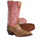 Justin Boots Punchy Cowboy Boots - Full-Quill Ostrich, Square Toe (For Women)