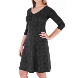 Royal Robbins Essential Traveler Printed Dress - Stretch Jersey, 3/4 Sleeve (For Women)