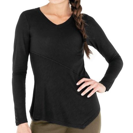 Royal Robbins Nabru Shirt - Seaside Slub Rayon, V-Neck, Long Sleeve (For Women)