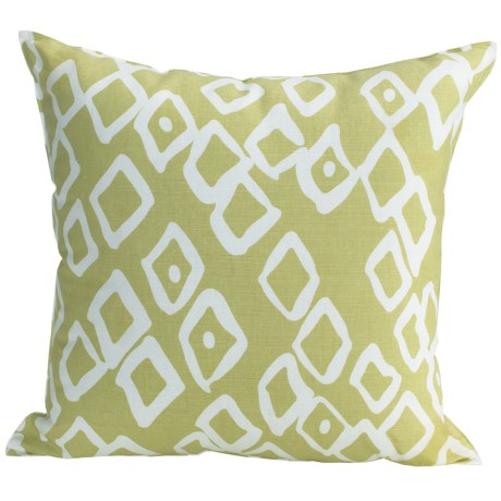 "Christen Maxwell New York Designer Throw Pillow - 18"", Linen"