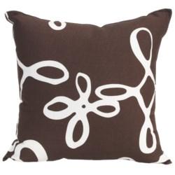 """Christen Maxwell New York Designer Throw Pillow - 16"""", Linen"""