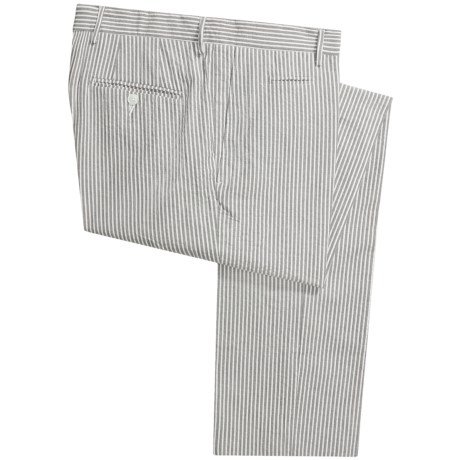 Scott James Arden Seersucker Pants - Flat Front (For Men)
