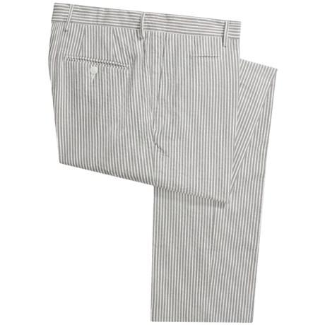Scott James Arden Seersucker Pants - Flat Front (For Men)