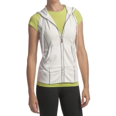 SoyBu Workout Hoodie Shirt - Sleeveless (For Women)