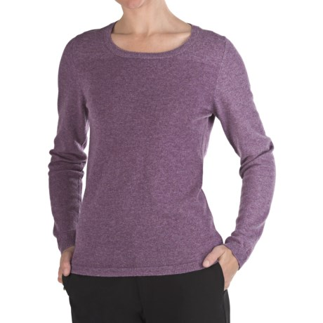 Johnstons of Elgin Marled Cashmere Sweater - Round Neck (For Women)