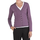 Johnstons of Elgin Marled Cashmere Cardigan Sweater - V-Neck (For Women)