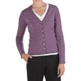 Johnstons of Elgin Marled Cashmere Cardigan Sweater - V-Neck (For Women)