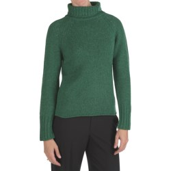 Johnstons of Elgin Cashmere Sweater - Chunky Roll Collar (For Women)