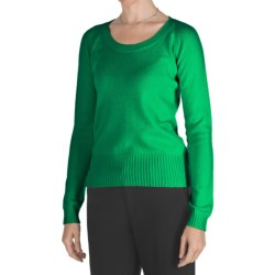 Johnstons of Elgin Cashmere Sweater - Round Neck (For Women)