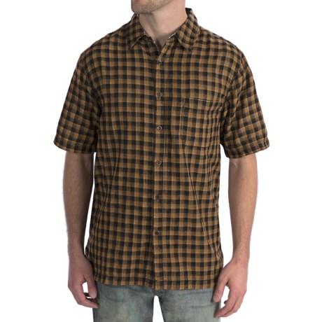 True Grit Cotton Check Shirt - Double Weave, Short Sleeve (For Men)