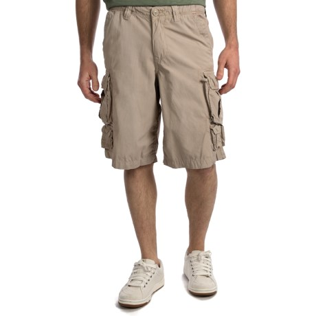 True Grit Canvas Cargo Shorts - Stonewashed Cotton (For Men)