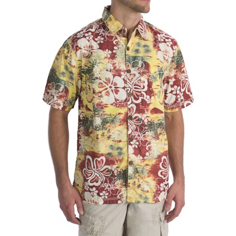 True Grit Mai Tai Shirt - Vintage Poplin Cotton, Short Sleeve (For Men)