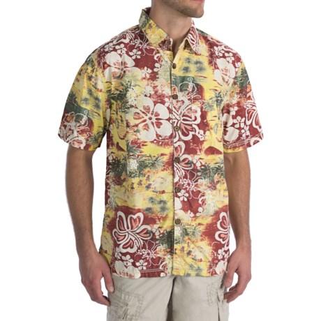 True Grit Mai Tai Shirt - Vintage Poplin Cotton, Short Sleeve (For Men)