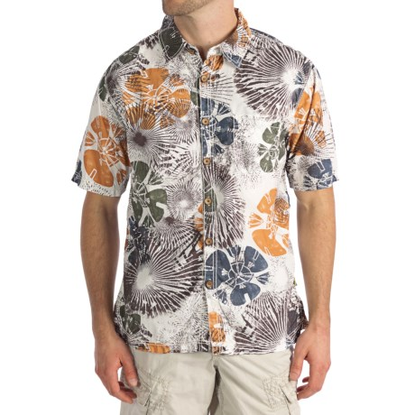 True Grit Vintage Wildflower Shirt - Cotton Poplin, Short Sleeve (For Men)