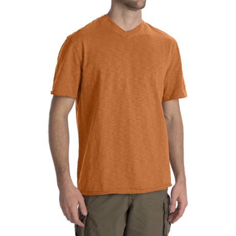 True Grit Slub Jersey T-Shirt - V-Neck (For Men)
