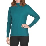 FDJ French Dressing Gathered Mock Neck Sweater (For Women)