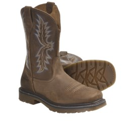 Ariat Rambler Work Cowboy Boots - Full-Grain Leather, Square Toe (For Men)