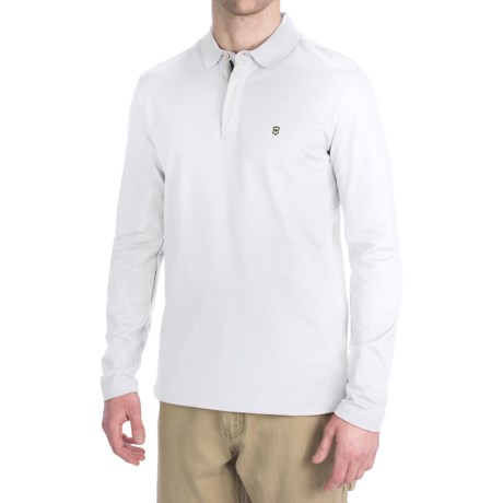 Victorinox Swiss Army Victorinox Stretch Pima Cotton Polo Shirt - Zip Neck, Long Sleeve (For Men)