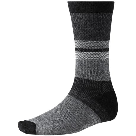 SmartWool Distressed Stripe Socks - Merino Wool, Crew (For Men)