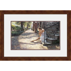 "Hadley House Framed ""One Step at a Time"" Print by Steve Hanks - Limited Edition, 24x36"""